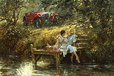 A Secret-Place, MG-TC art print by Alan Fearnley