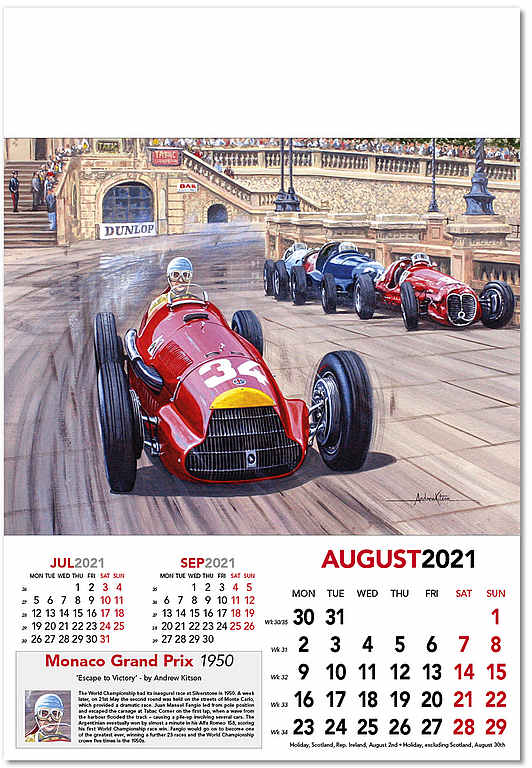 Automobile Art: Kitson, Andrew : Formula 1 Wall Calendar Grand