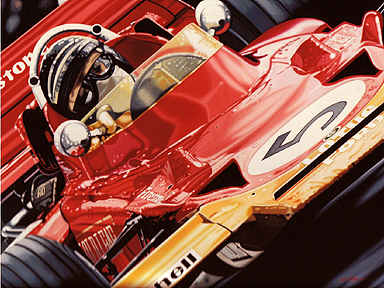 Jochen Rindt Lotus Formula One art print by Colin Carter