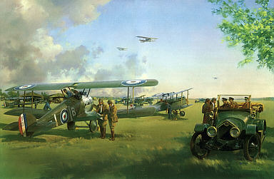 April Morning, Sopwith Camel art print by Frank Wootton