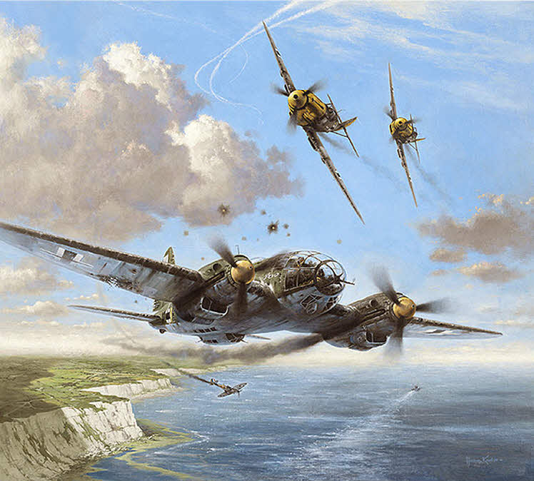 Image result for paintings he111 bomber