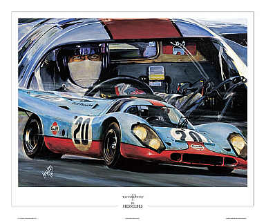 automobilkunst bes hessel gulf porsche 917 steve. Black Bedroom Furniture Sets. Home Design Ideas