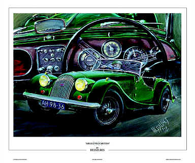 Morgan Plus 4 automobile art print by Hessel Bes