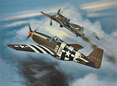 Old Crow - P-51B Mustang of Clarence E. 'Bud' Anderson, Aviation Art by Jerry Crandall