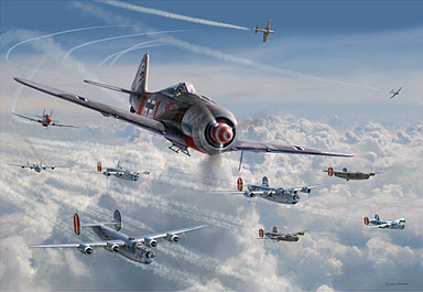 Bretschneider's End, Focke Wulf Fw 190 A-8 aviation art by Jim Laurier