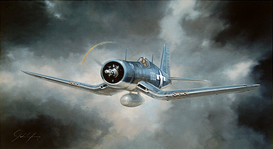 Corsair F4U aviation art print by John Young