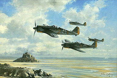 Guardians of the Atlantic Wall, Focke-Wulf Fw 190 aviation art print by John Young