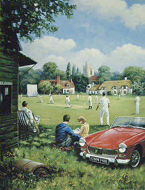 Those Summer Days, MG Midget automoble art print by Kevin Walsh