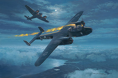 East Coast Intruder - Dornier Do 17 Aviation Art by Mark Postlethwaite