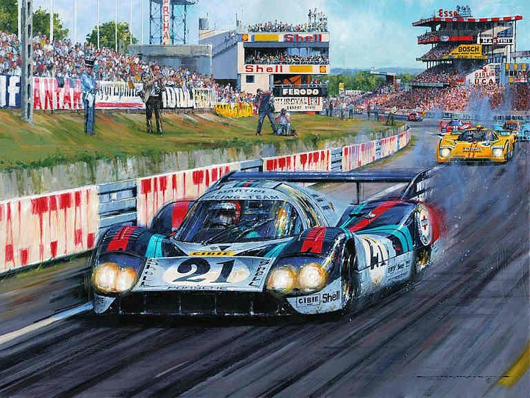 Automobile Art Watts Nicholas Langhecks At Le Mans 1971