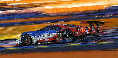 Le Mans 2016 - Anniversary Victory for Ford, Motorsport Art by Nicholas Watts