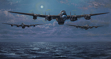 Enemy Coast Ahead, Avro Lancaster aviation art print by Philip E West