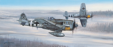 On the Prowl, Focke-Wulf Fw 190 aviation art print by Philip E West