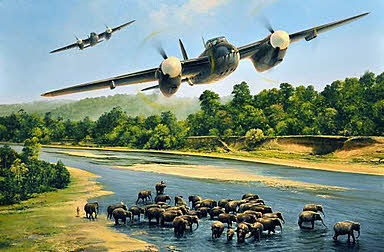 First Strike, De Havilland Mosquito aviation art print by Richard Taylor