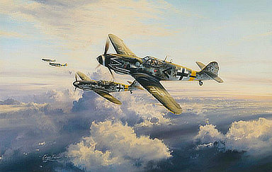 Ace of Aces - Erich Hartmann's Me-109G,Aviation Art by Robert Tailor