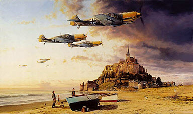 Aces on the Western Front, Me-109 Aviation Art print by Robert Taylor