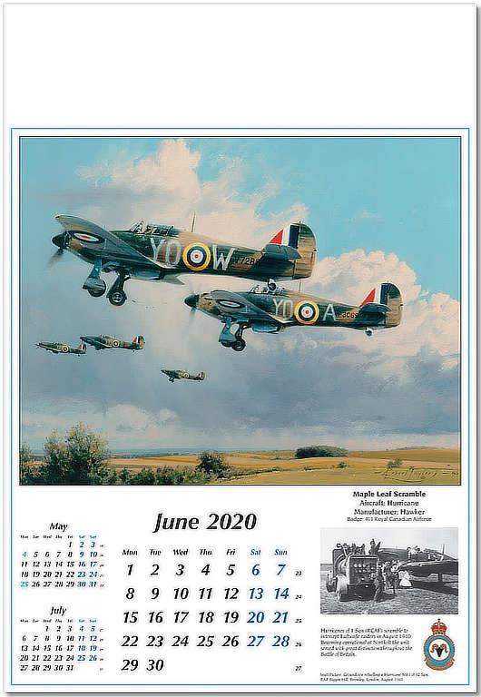Reach for the Sky Aviation Art Calendar 2020