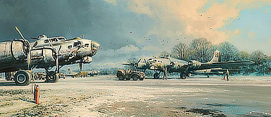 Clearing Skies, B-17 Flying Fortress WWII Aviation Art by Robert Taylor