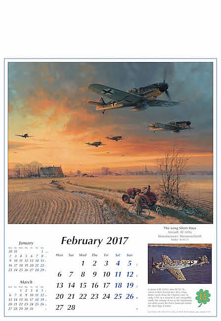 Flugzeug Kalender 2017