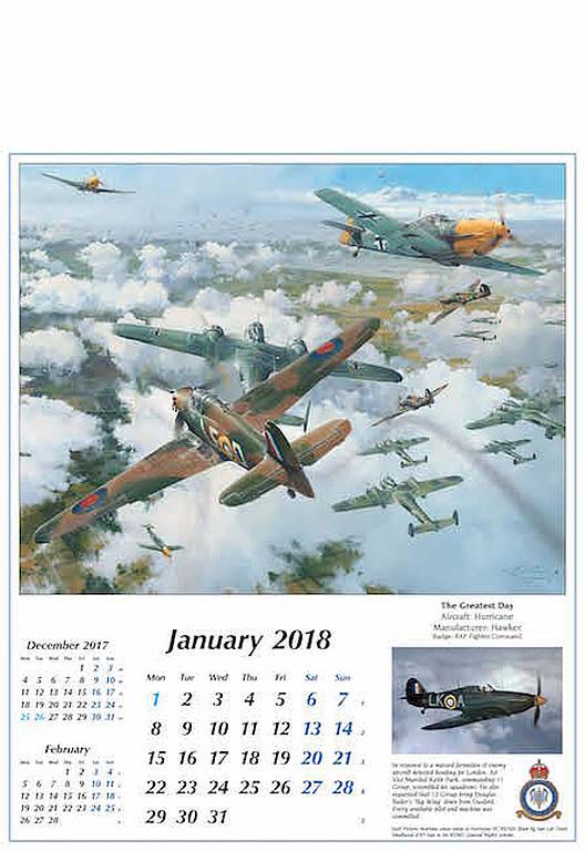 flugzeuge kalender 2018