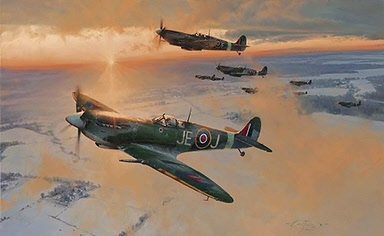 Midwinter Dawn, Supermarine Spitfre aviation art print by Robert Taylor