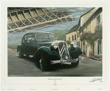 Citroën Traction Avant - Automobile Art print by Roger van den Berg