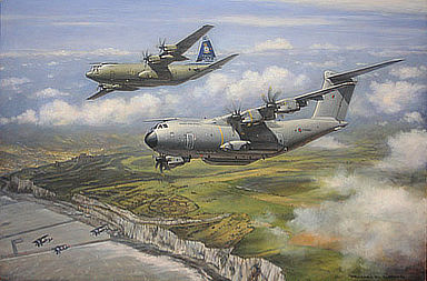 Airbus A-400M 206R Squadron RAF, Aviation Art by Ronald Wong