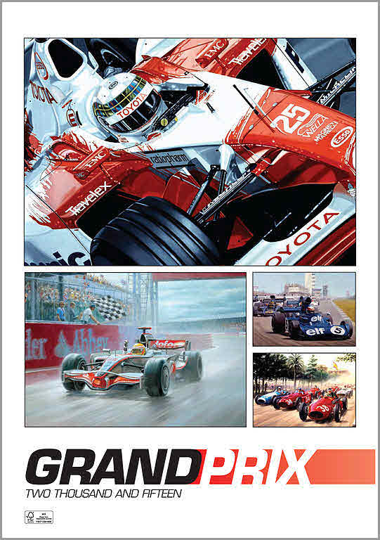 Grand Prix Motorsport Formel-1 Kunstkalender 2015 von Colin Carter und Tony Smith