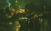 A Brief Encounter, Jaguar Mark V Kunstdruck von Alan Fearnley