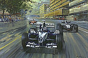 Colombian-Magic, Juan Pablo Montoya Williams-BMW F1 motorsport art print by Alan Fearnley