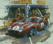 Maserati 450S Coupe 1957, motorsport art print by Alan Fearnley