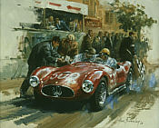 Maserati A6 GCS 1952-55, F1 motorsport art print by Alan Fearnley