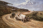 Team Conquest, Christian Lautenschlager Mercedes motorsport art print by Alan Fearnley