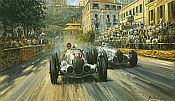 Last of the Titans, Manfred von Brauchitsch GP of Monaco art print by Alan Fearnley