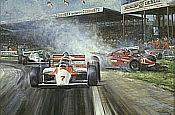 Wattie, McLaren MP4 Formula One art print by Alan Fearnley