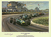 Winning Combination, Jim Clark Lotus 49  F1 art print by Alan Fearnley
