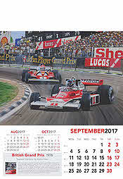 Formel-1 Grand Prix Kalender 2017 September James Hunt McLaren-Ford