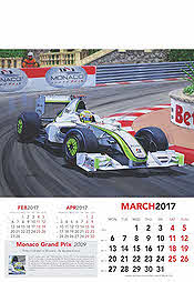 Formula-1 Grand Prix Calendar 2017 March Jenson Button Brawn-Mercedes