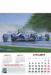 Formula-1 Grand Prix Calendar 2017 April Damon Hill Williams-Renault
