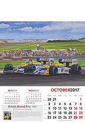 Formula-1 Grand Prix Calendar 2017 October Nigel Mansell Williams-Honda