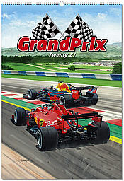Formula 1 Wall Calendar Grand Prix 2021 - Motorsport Art by Andrew Kitson