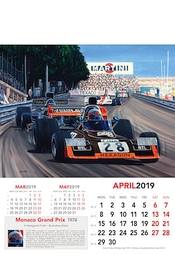 Formel 1 Kalender 2019 Monaco Grand Prix 1974 - April