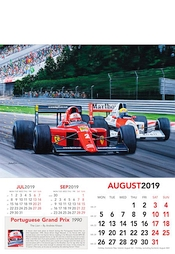 Formel 1 Kunst Kalender 2019 Portugal Grand Prix 1990 - August