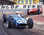 Formel 1 Wandkalender 2021 - Grand Prix von Monaco 1961 - Stirling Moss im Lotus 18 Coventry-Climax - Dezember
