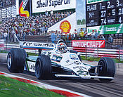 Formel 1 Wandkalender 2021 - Grand Prix von Großbritannien 1980 - Alan Jones im Albilad-Williams-Ford FW07 - Oktober