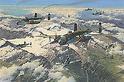 Battle of the Brenner, B-25 Mitchell aviation art by Anthony Saunders