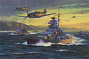Break Out, Battleship Bismarck art print by Anthony Saunders