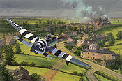 Bridge Busters, P-47 Thunderbolt Art Print by Anthony Saunders