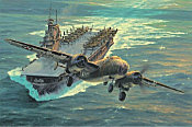 Destination Tokyo - Doolittle's B-25 launched from USS Hornet, Aviation Art by Anthony Saunders