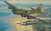 Salute to the Brave, B-17 Ye Olde Pub and Bf-109 of Franz Stigler - Aviation Art by Anthony Saunders
